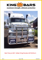 Mack Titan Bullbar and Bumper Fitting - Pre 2008