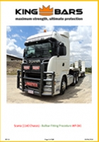 Scania (1140 Chassis) Bullbar Fitting